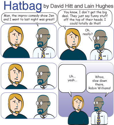 Hatbag by David Hitt and Lain Hughes comic strip most improved webcomic