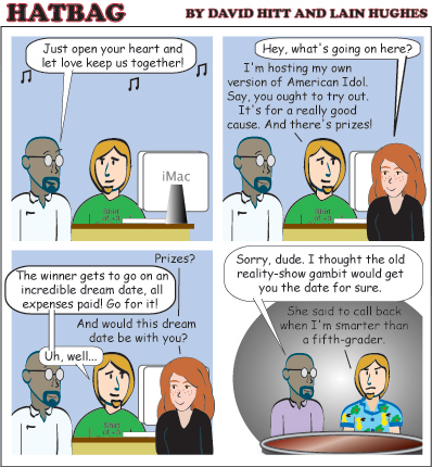 Hatbag by David Hitt and Lain Hughes comic strip Same Old Song webcomic