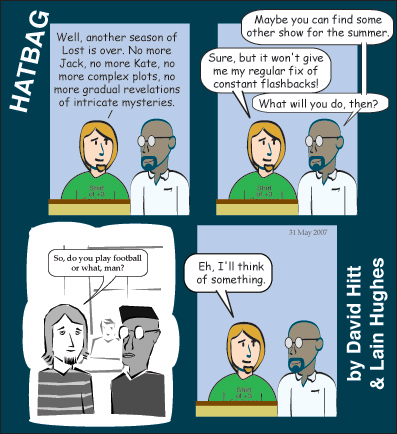 Hatbag by David Hitt and Lain Hughes comic strip the lost years webcomic