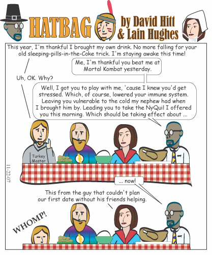 Hatbag by David Hitt and Lain Hughes comic thanksplanning webcomic