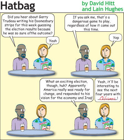 Hatbag by David Hitt and Lain Hughes comic hope for a joke webcomic