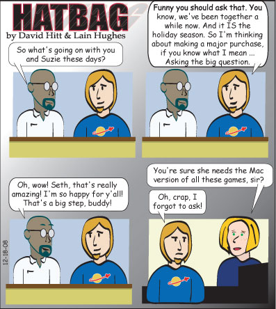 Hatbag by David Hitt and Lain Hughes comic engaging conversation webcomic