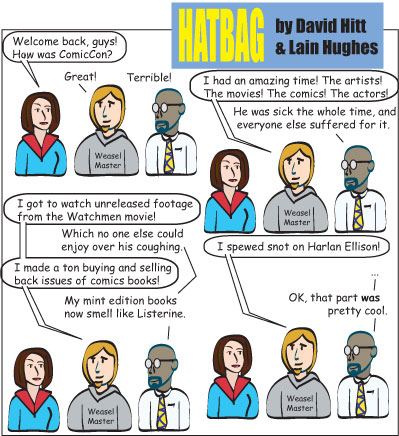 Hatbag by David Hitt and Lain Hughes comic nothing to sneeze at webcomic