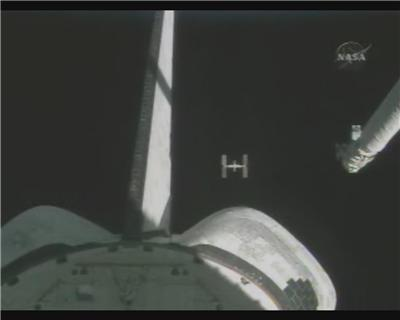 ISS behind Atlantis