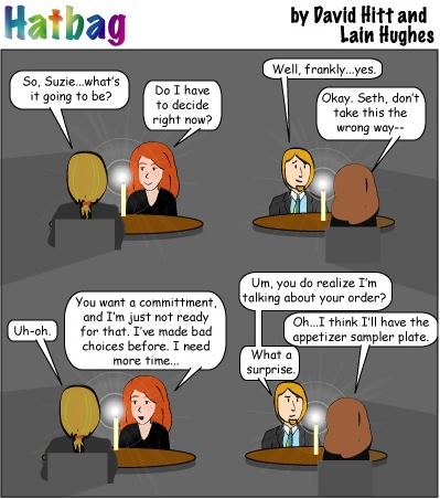 Hatbag by David Hitt and Lain Hughes comic a date which shall live in indecisiveness webcomic