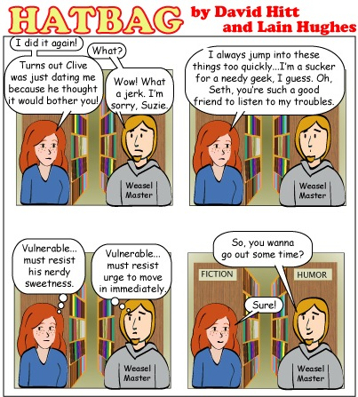 Hatbag by David Hitt and Lain Hughes comic a decent interval webcomic