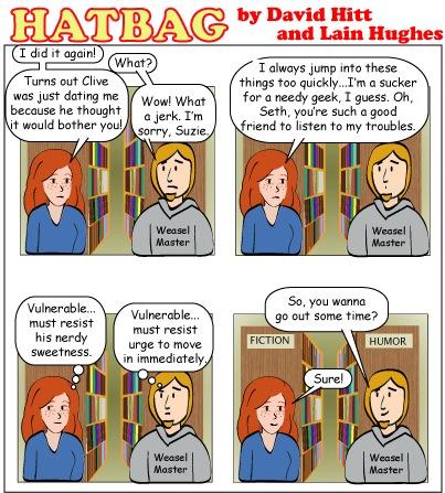 Hatbag by David Hitt and Lain Hughes comic a decent interval webcomic