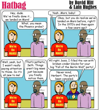 Hatbag by David Hitt and Lain Hughes comic also, elvis may be dead webcomic