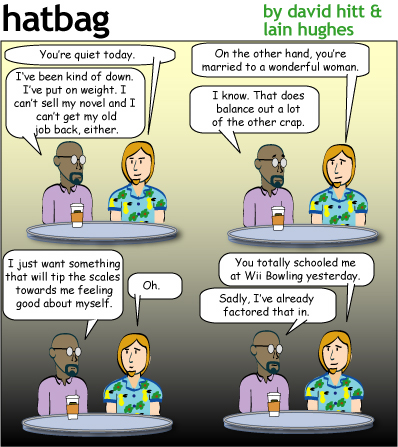 Hatbag by David Hitt and Lain Hughes comic another mind in the gutter webcomic