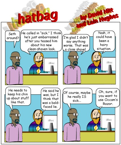 Hatbag by David Hitt and Lain Hughes comic cut to the chase webcomic