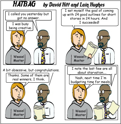 Hatbag by David Hitt and Lain Hughes comic strip diet write webcomic