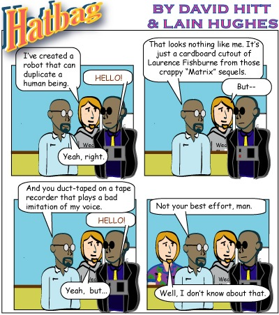 Hatbag by David Hitt and Lain Hughes comic do androids dream of electric seth webcomic