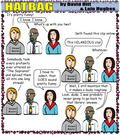 Hatbag by David Hitt and Lain Hughes comic expletive deluded webcomic