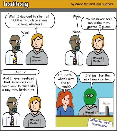 Hatbag by David Hitt and Lain Hughes comic face the future webcomic
