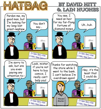 Hatbag by David Hitt and Lain Hughes comic reordered priorities webcomic