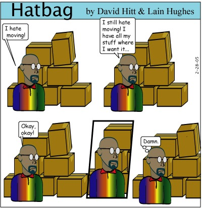 Hatbag by David Hitt and Lain Hughes comic a moving experience minus jenny webcomic