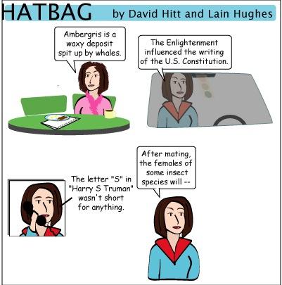 Hatbag by David Hitt and Lain Hughes comic romance is dead minus guy webcomic