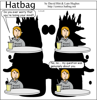 Hatbag by David Hitt and Lain Hughes comic rorschach and awe minus guy webcomic