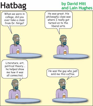 Hatbag by David Hitt and Lain Hughes comic the academic grind minus seth webcomic