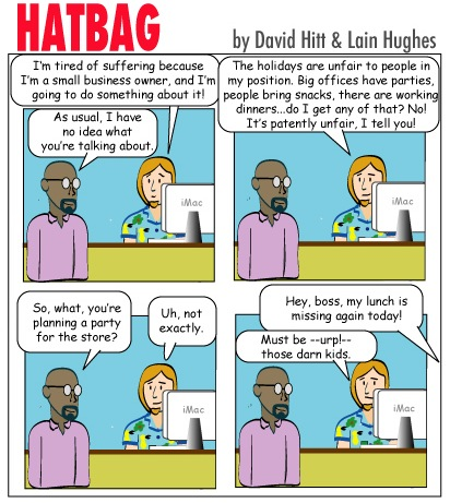 Hatbag by David Hitt and Lain Hughes he gave at the office webcomic