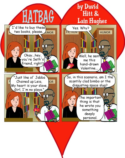 Hatbag by David Hitt and Lain Hughes comic strip heart to decipher webcomic