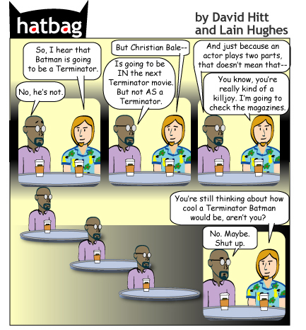 Hatbag by David Hitt and Lain Hughes comic i'll be bat webcomic