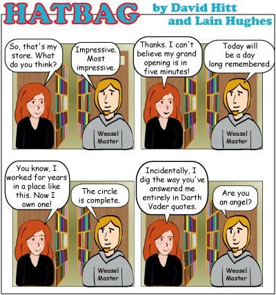 Hatbag by David Hitt and Lain Hughes comic strip into the expanded universe webcomic