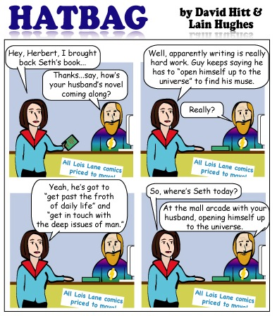 Hatbag by David Hitt and Lain Hughes comic living the literary wife webcomic