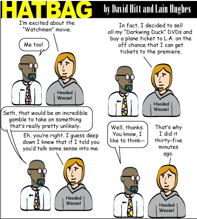 Hatbag by David Hitt and Lain Hughes comic not his keenest act webcomic