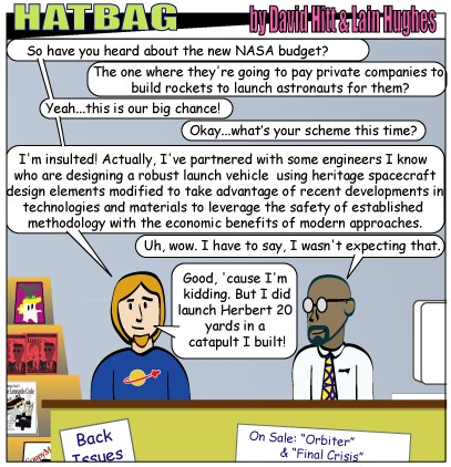 Hatbag by David Hitt and Lain Hughes outsourced space webcomic