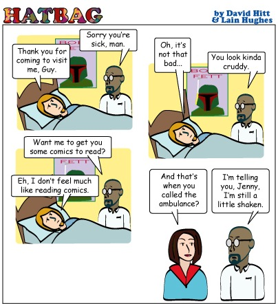 Hatbag by David Hitt and Lain Hughes comic paging dr manhattan webcomic