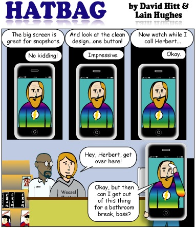 Hatbag by David Hitt and Lain Hughes comic strip phoning it in webcomic