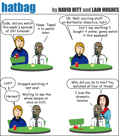 Hatbag by David Hitt and Lain Hughes comic strip psychotic episode 3 webcomic