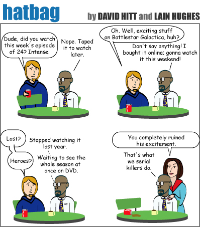 Hatbag by David Hitt and Lain Hughes comic strip psychotic episode 2 webcomic