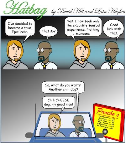 Hatbag by David Hitt and Lain Hughes comic reordered priorities webcomic