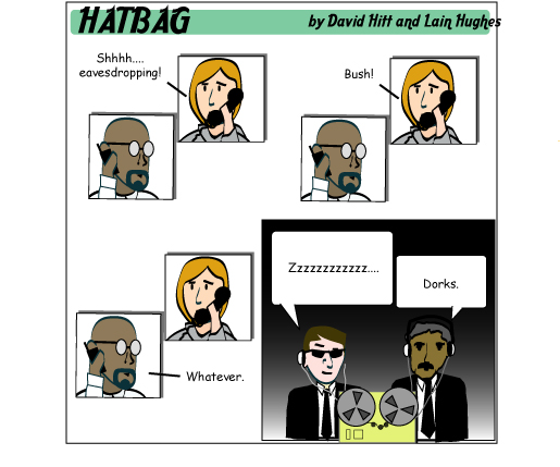 Hatbag by David Hitt and Lain Hughes comic strip six words well hush my mouth webcomic