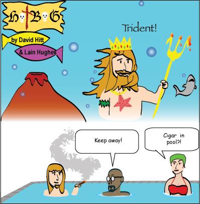 Hatbag by David Hitt and Lain Hughes comic strip six words king neptune webcomic