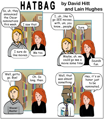 Hatbag by David Hitt and Lain Hughes comic strip statue of limitations webcomic