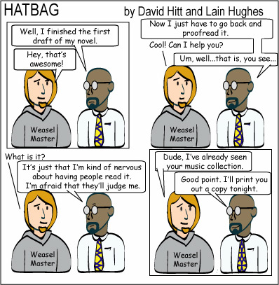 Hatbag by David Hitt and Lain Hughes comic  the error of your ways webcomic