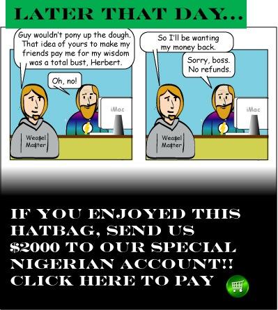 Hatbag by David Hitt and Lain Hughes comic a penny saved webcomic