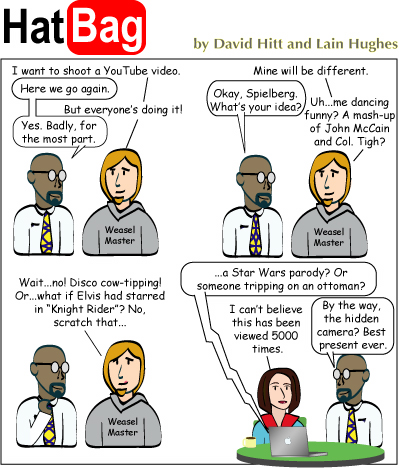 Hatbag by David Hitt and Lain Hughes comic the medium is the mess webcomic
