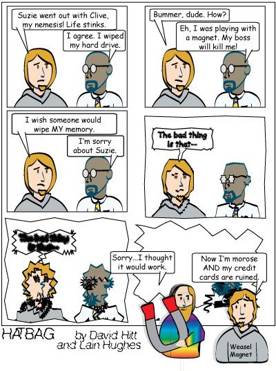 Hatbag by David Hitt and Lain Hughes comic strip the most polarizing hatbag ever webcomic