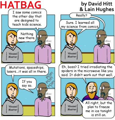 Hatbag by David Hitt and Lain Hughes They Blinded Me With Comics webcomic