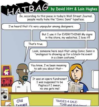 Hatbag by David Hitt and Lain Hughes type a personality webcomic